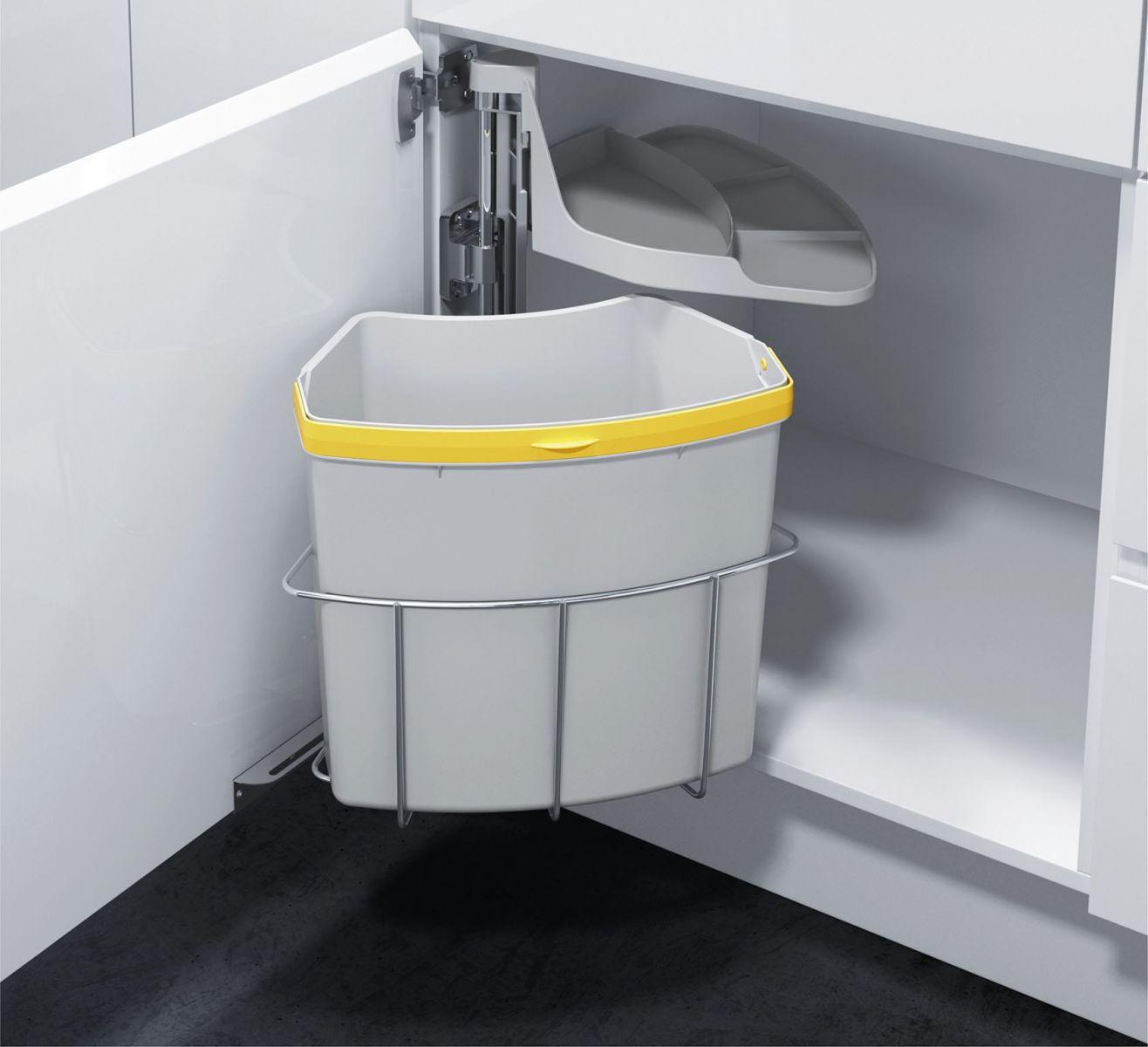 Giải pháp thùng rác âm tủ thông minh | Nội Thất Âu Mỹ